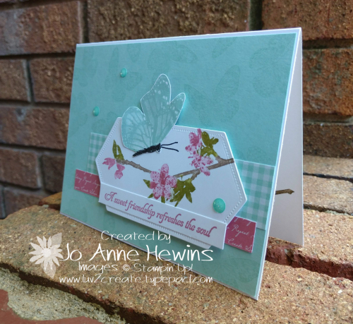 CCMC #574 Butterfly Wishes Card by Jo Anne Hewins