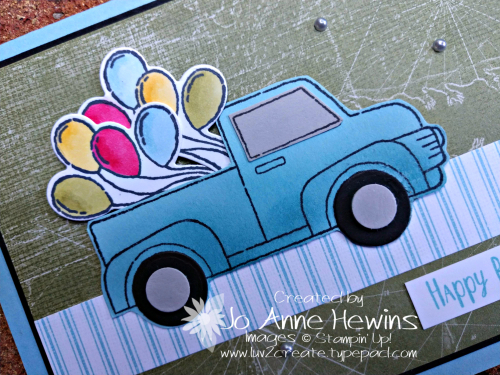 Ride with Me Birthday Truck Close Up by Jo Anne Hewins