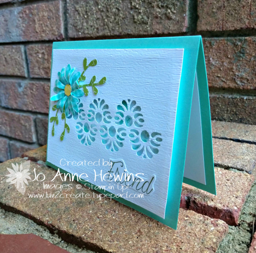 Tasteful Backgrounds with Medium Daisy Punch and Sprig Punch by Jo Anne Hewins