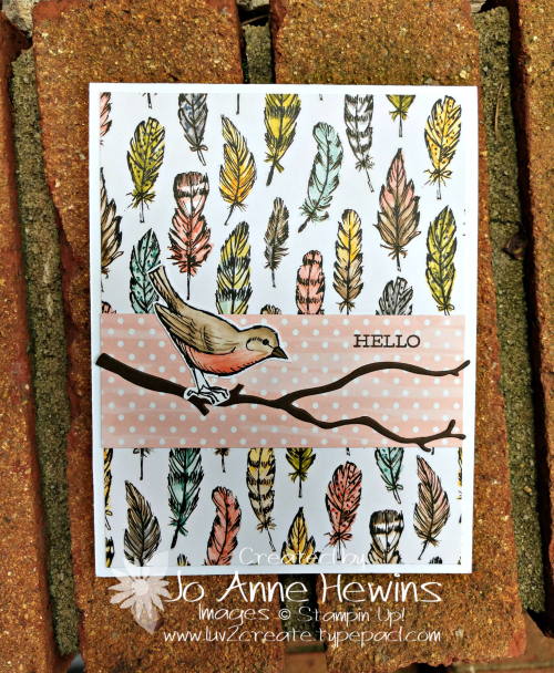 Bird Ballad Card by Jo Anne Hewins