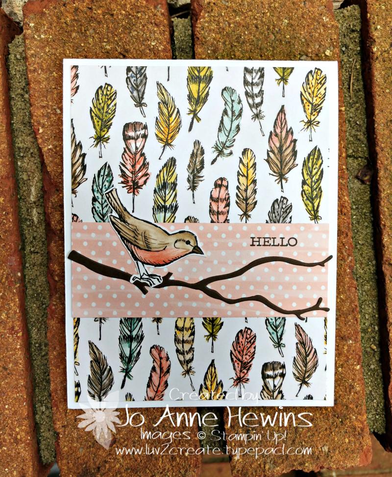 Bird Ballad Card by Jo Anne Hewins