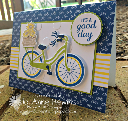 CCMC#557 Bike Ride Card by Jo Anne Hewins