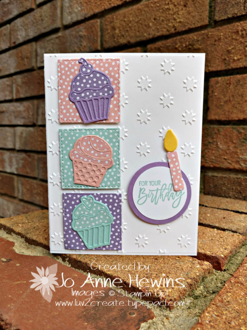 Birthday Cheer Card for Stamping Around the World by Jo Anne Hewins