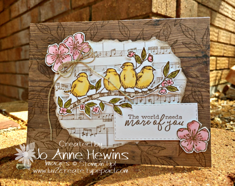 Free as a Bird Sneak Peek Card by Jo Anne Hewins