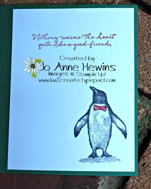 Playful Penguins Setptember Inside by Jo Anne Hewins