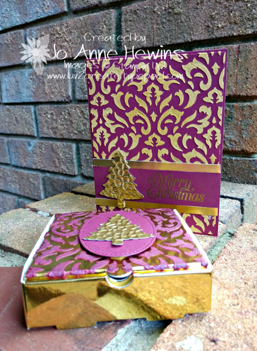 OSAT Gold Embossed Card and 3D Project by Jo Anne Hewins
