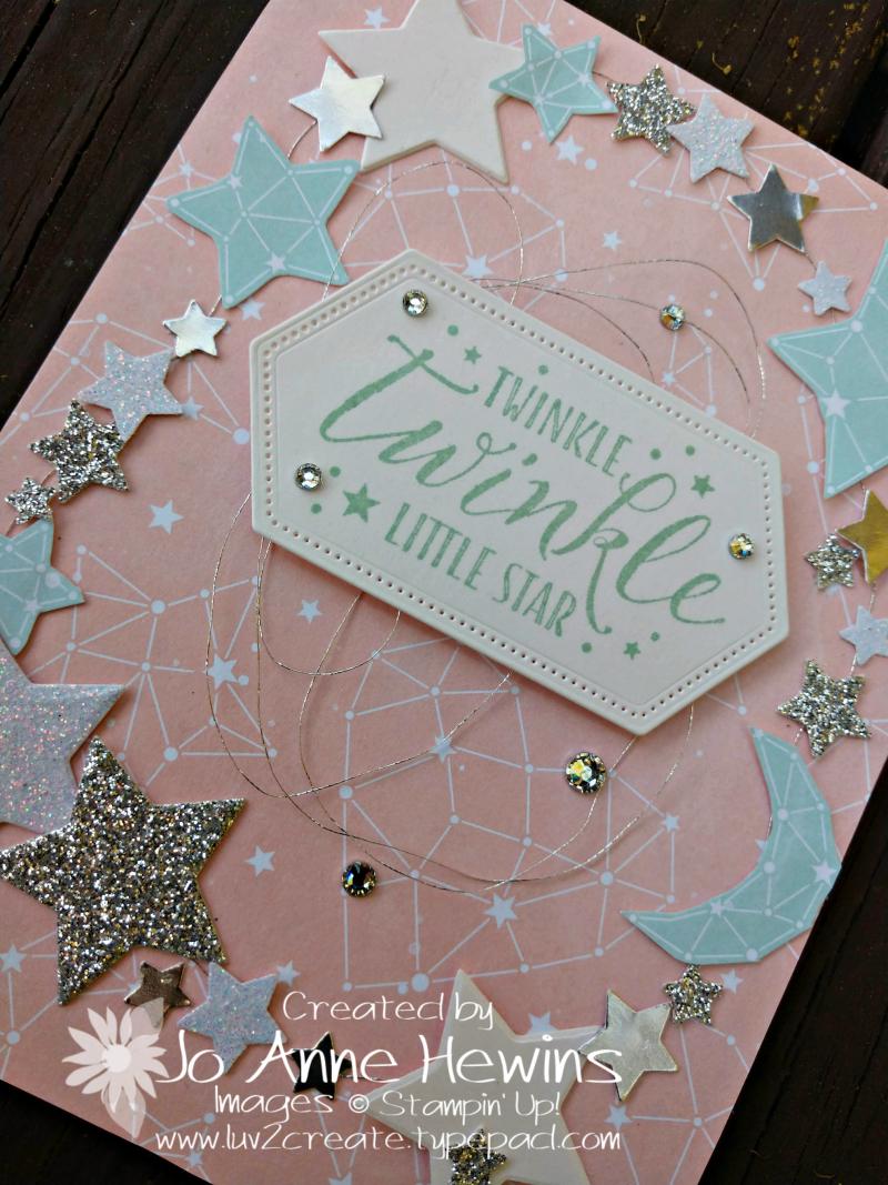 Twinkle Twinkle Little Star Close Up of Card by Jo Anne Hewins