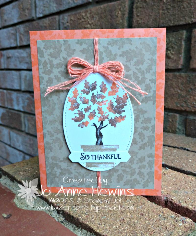 Beauty & Joy Fall Card by Jo Anne Hewins