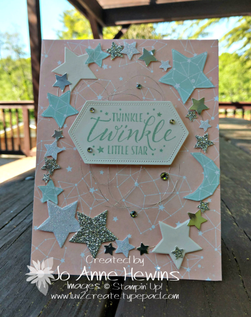 Twinkle Twinkle Little Star Card by Jo Anne Hewins