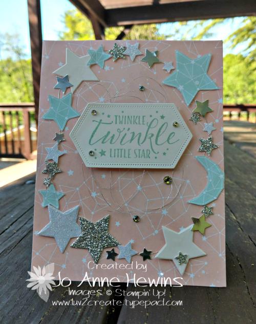 Twinkle Twinkle Little Star Card by Jo Anne Hewins