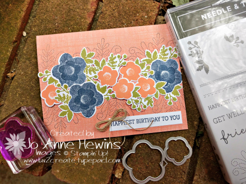 Color Fusers May Needle & Thread Sample by Jo Anne Hewins