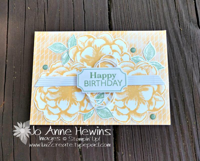 April Paper Pumpkin So Saffron Flowers by Jo Anne Hewins