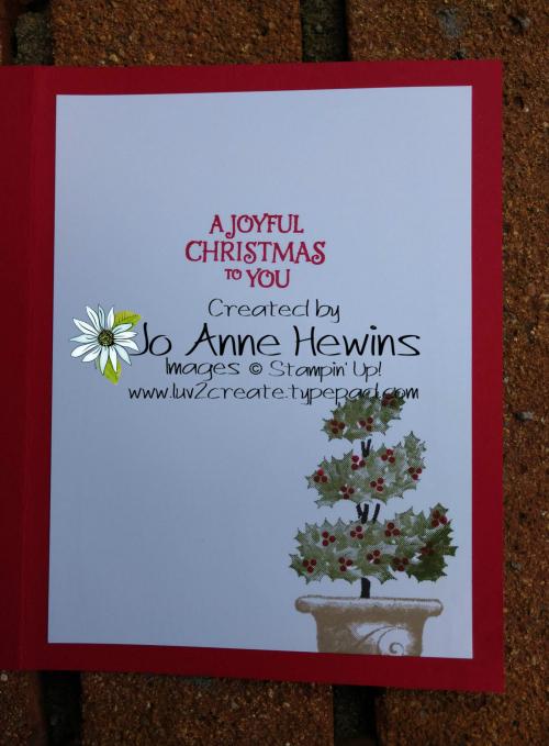 Beauty & Joy Christmas Inside by Jo Anne Hewins