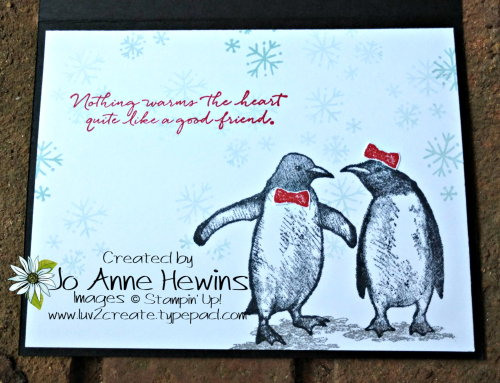 Playful Penguins New Year's Inside of Card by Jo Anne Hewins