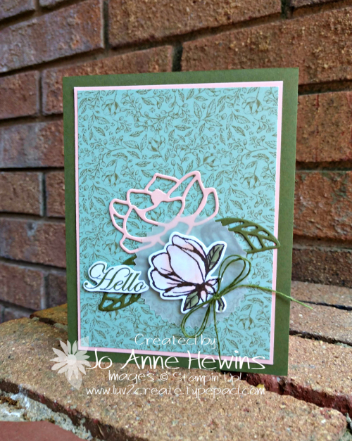 Good Morning  Magnolia Card by Jo Anne Hewins