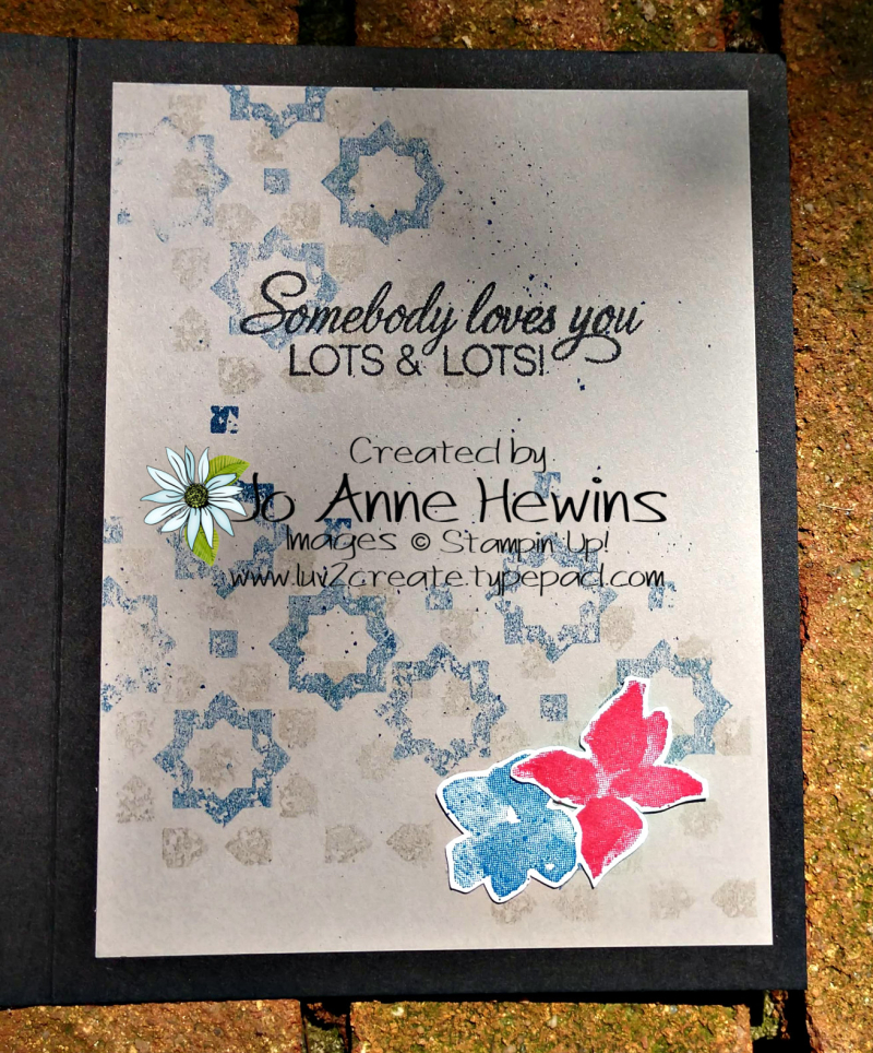 Color Fusers June Parcels & Petals Inside of Card by Jo Anne Hewins