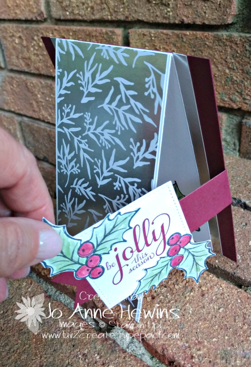 Feels Like Frost Christmas Card Flap by Jo Anne Hewins