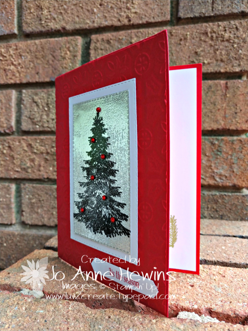 Winter Woods Christmas Ice Card by Jo Anne Hewins