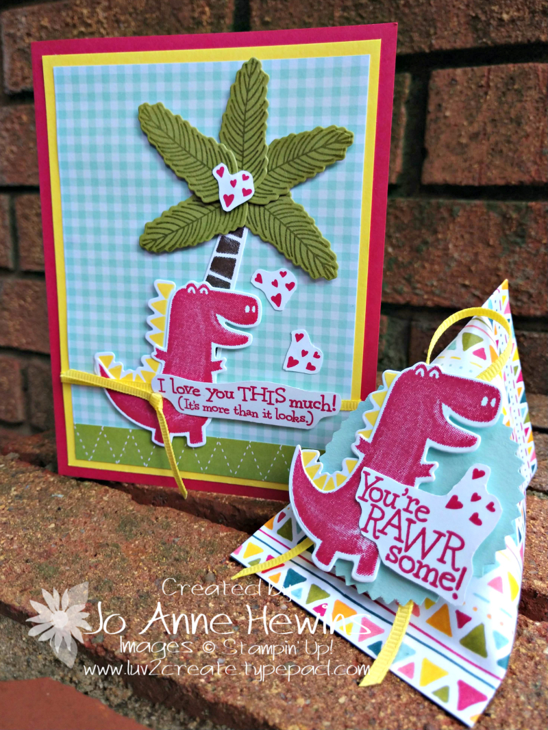 Dino Days Card & 3D for OSAT by Jo Anne Hewins
