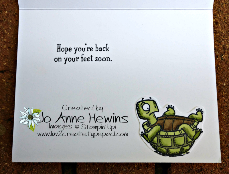 Back on Your Feet Card Inside by Jo Anne Hewins