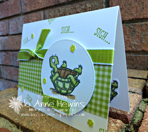 Back on Your Feet with Turtle Card by Jo Anne Hewins