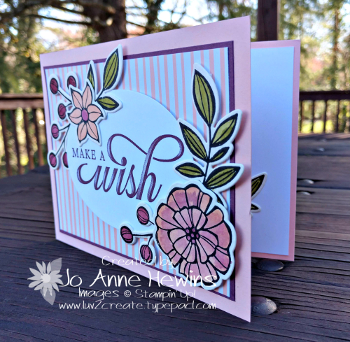 CCMC #551 Falling Flowers card by Jo Anne Hewins
