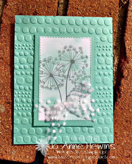 Dandelion Wishes Easel Card by Jo Anne Hewins