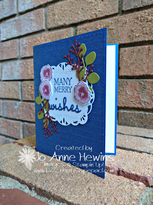First Frost Christmas Card Blueberry Burst by Jo Anne Hewins