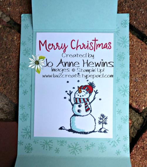 Snowman Season Inside by Jo Anne Hewins