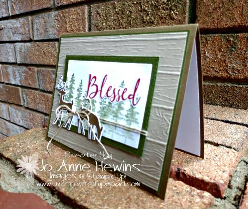 Dashing Deer Card by Jo Anne Hewins