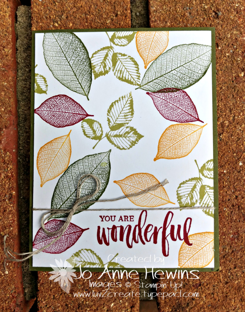Rooted in Nature Simple Card by Jo Anne Hewins