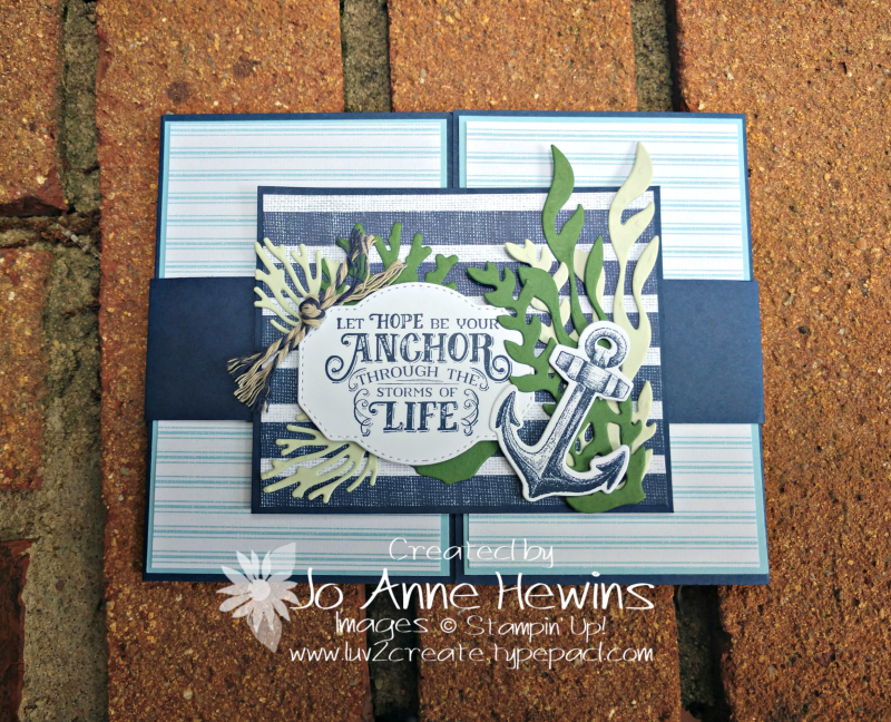 Sailing Home Belly Band Card by Jo Anne Hewins