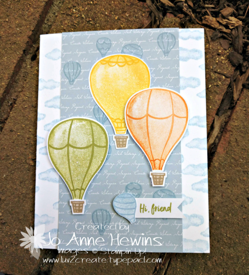 Above the Clouds 3 Hot Air Balloons by Jo Anne Hewins