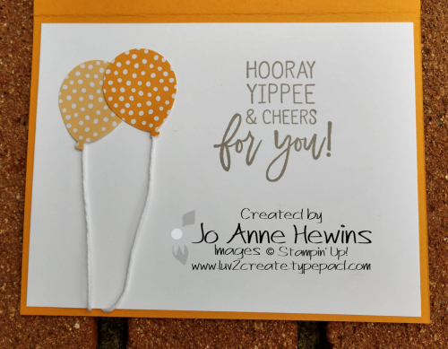 CCMC #553 Balloon Bouquet Punch card by Jo Anne Hewins