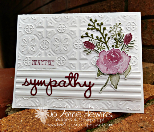 First Frost Sympathy Card by Jo Anne Hewins