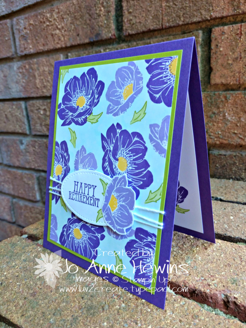 Floral Essence for Retirement Card by Jo Anne Hewins