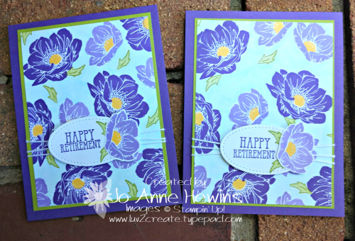 Floral Essence Retirement Cards by Jo Anne Hewins