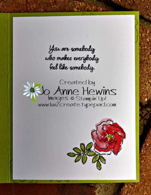 CCMC #570 Inspiring Iris Inside of Card by Jo Anne Hewins
