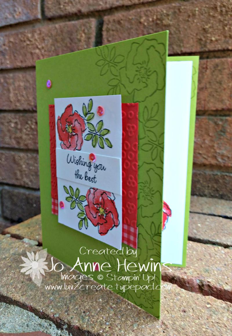 CCMC#570 Inspiring Iris Card by Jo Anne Hewins