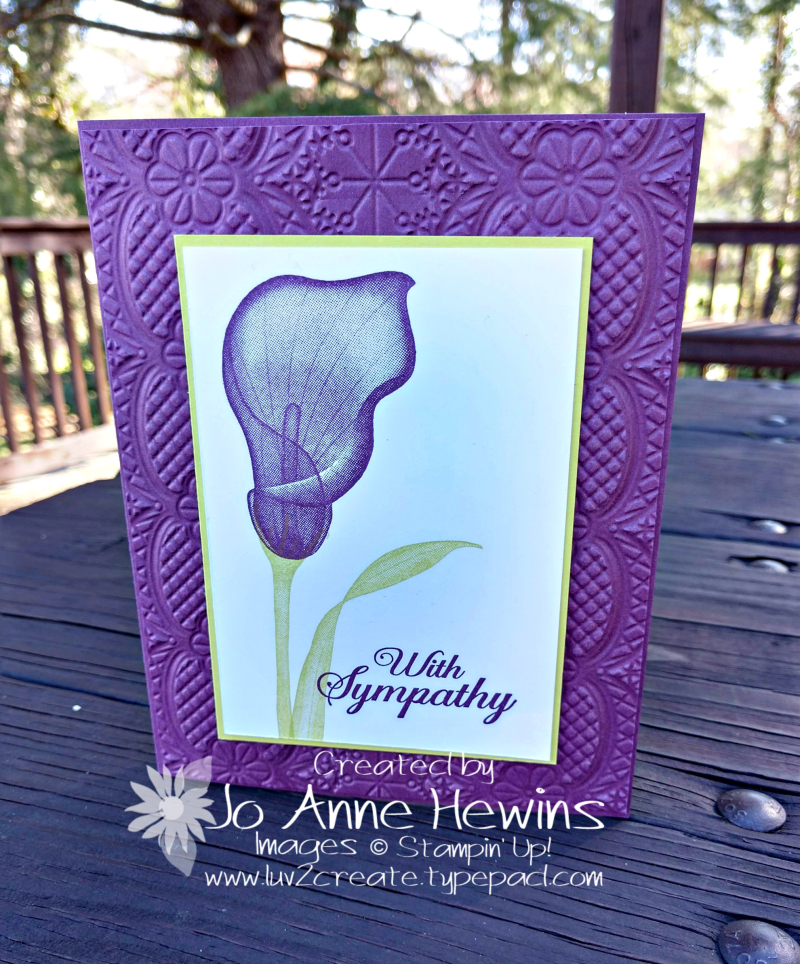 Lasting Lily Sympathy Card by Jo Anne Hewins