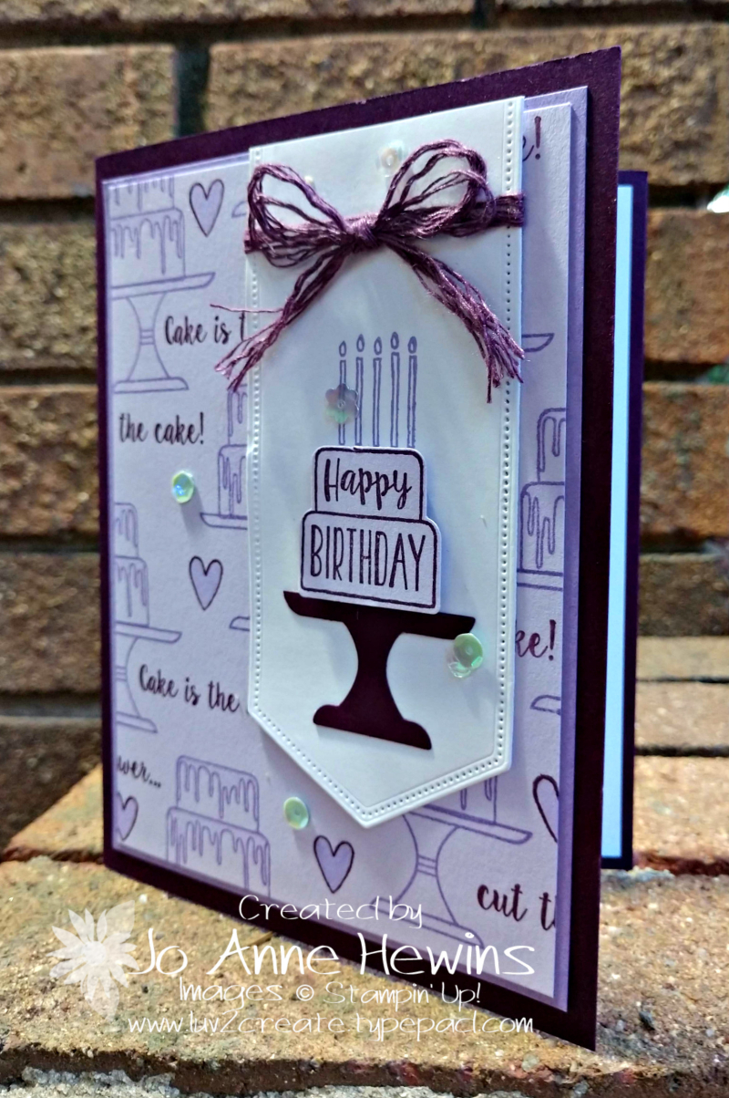 Piece of Cake Card by Jo Anne Hewins