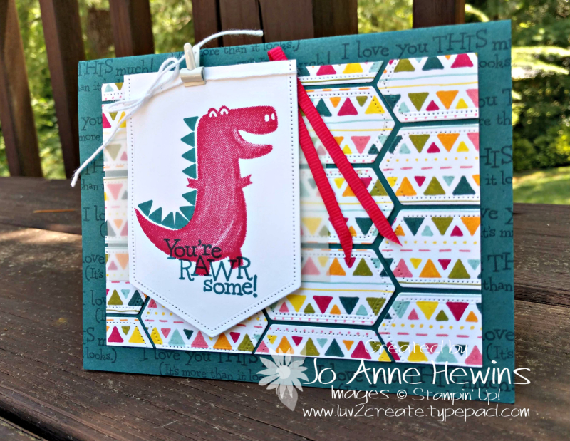 NC Demo Blog Hop July Dino Days Card by Jo Anne Hewins