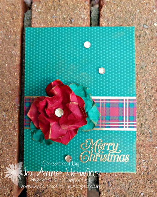 OSAT for November Gleaming Ornaments Punch Pack Card by Jo Anne Hewins
