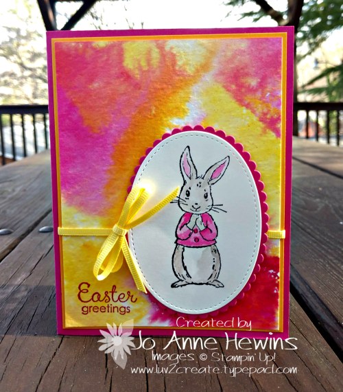 Color Fusers April 2019 Fable Friends Card by Jo Anne Hewins