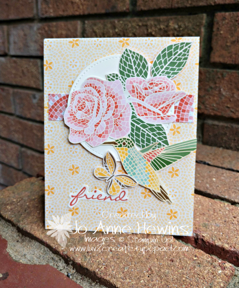 CCMC #572 Mosaic Mood Specialty Card by Jo Anne Hewins