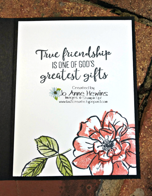 To a Wild Rose Inside of Card for Whisk & Barrel by Jo Anne Hewins
