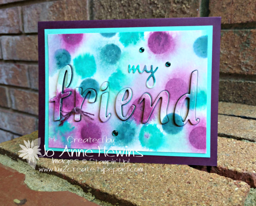 Color Fusers for August with Hand-Lettered Prose Card by Jo Anne Hewins
