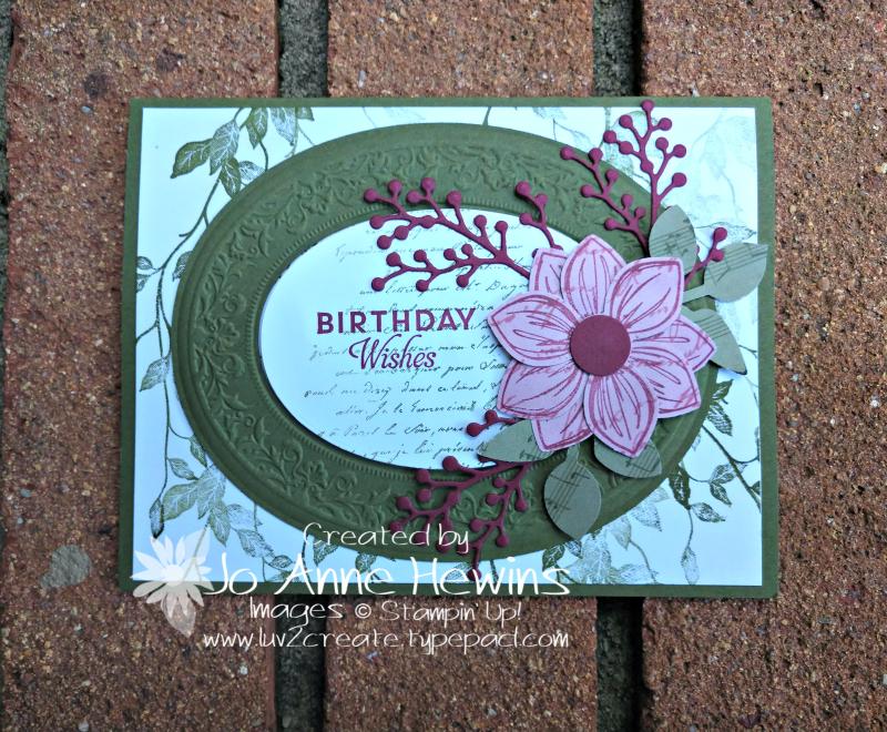 Heirloom  Dies and Embossing Folder Card by Jo Anne Hewins