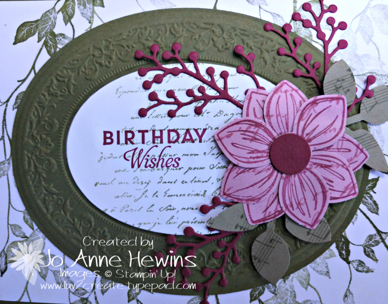 Heirloom Dies and Embossing Folder Close Up of Oval by Jo Anne Hewins