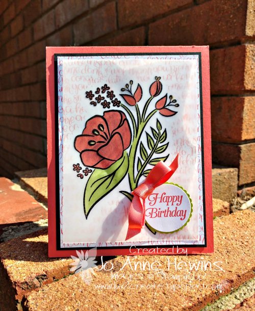 All That You Are Vellum card by Jo Anne Hewins